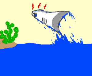 Manta Ray Attacks Defenseless Cactus