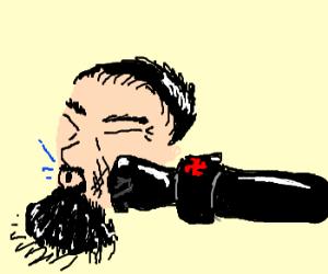 Hitler punches Michelangelo