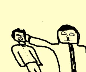 hitler punches man