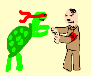 Raphael (tmnt) fight nazi