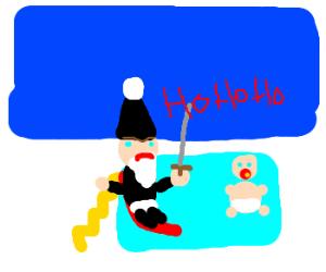 Bad Santa at the kiddie pool