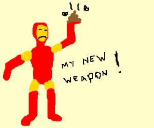 Iron Man's new secret weapon. . . poop!