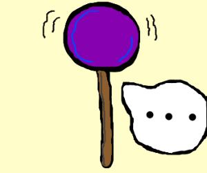 bouncy lolipop gives silent treatment