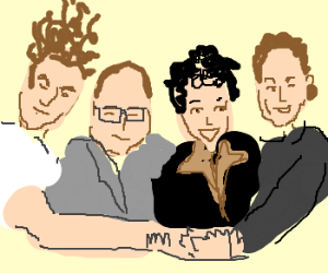 Jerry, George, Elaine and Kramer.