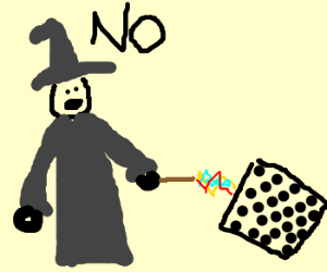 Wizard angry after he lost at chess