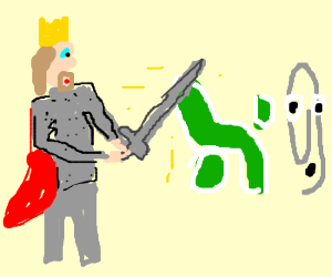 king arthus fighting a knight with excal