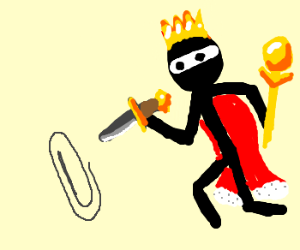 King assasinates paperclip