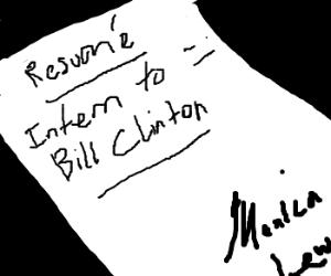 Monica Lewinsky's resume