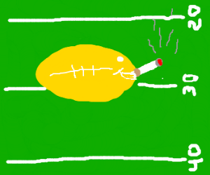Football lemon likes to smoke