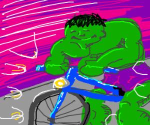 The Hulk's new bicycle