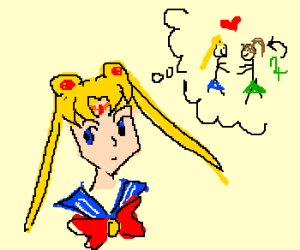 Sailor Moon ponders slash fiction