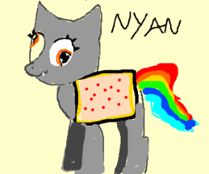 NyanCat&MyLilPony's retarded love child
