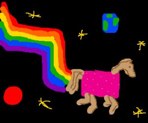 nyan horse herp-derping thru the univers