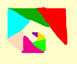 Multiple colourful triangles