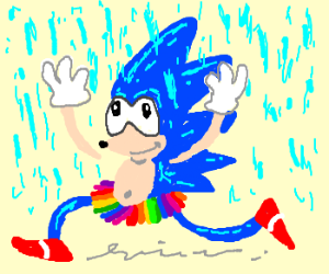 Sonic the Hedgehog is MAKIN' IT RAINNNN