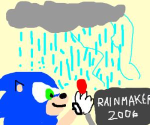 Sonic makes it rain