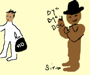 Sir bids the Doctor a goodbye
