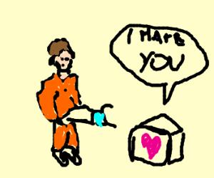 Companion cube actually dislikes Chell