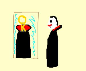 Vampires actually look ok in mirrors.