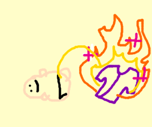Baby in pee with mystical fire clothes