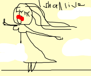 Ophelia singing on a tightrope don't die