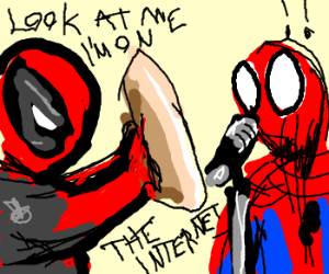 Deadpool clowns on Spidey at open mic