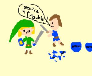 link gets tortured for breaking pots