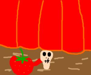 Strawberry plays Hamlet