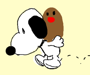 Snoopy gives Diglet a piggyback ride