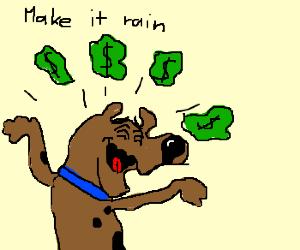Scooby Doo empties his money pit