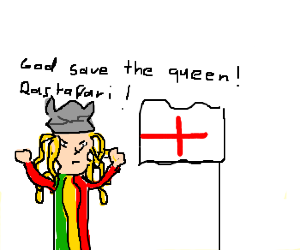 Rasta Viking is an Anglophile