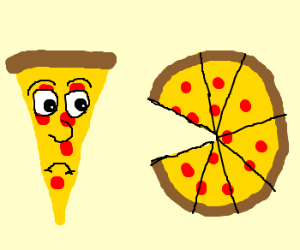 Slice of pizza feels left out.