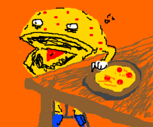 Pac-Man contracts chicken pox from pizza