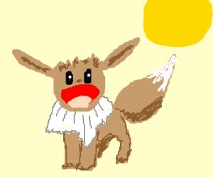 Eevee awakens in the sun!