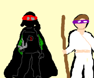 darthvader and luke play ninja turtles