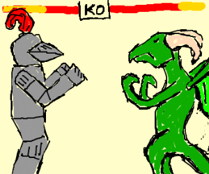 Image result for knight fighting dragon
