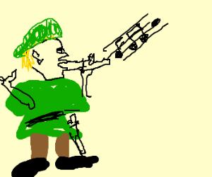 "Link using ""Charm"" w/ his Ocarina"