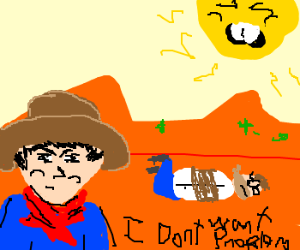 Asian cowboy apprehends nerd bandit