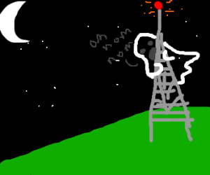 Ghost noms on cell phone tower