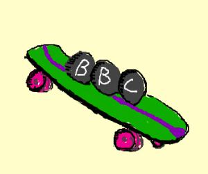 BBC rocks on skateboards