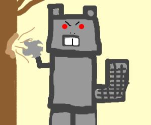EVIL ROBOT BEAVER!!!