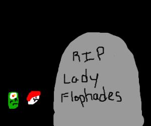 lil sushi men visit Lady Flophades grave