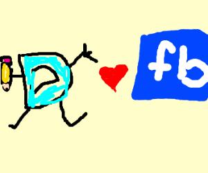 Drawception has a crush on facebook