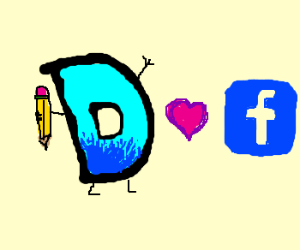 Drawception D hearts Facebook