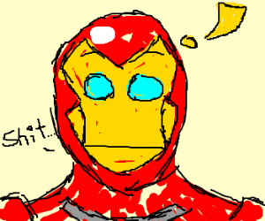 Iron man has an accident