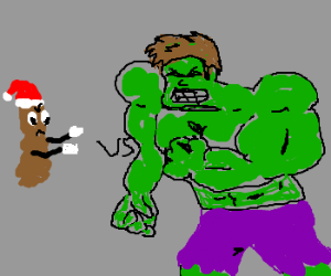 Santa Poo vs. Abnormal Muscle Man