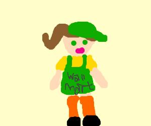 Pippi Longstocking: WalMart greeter