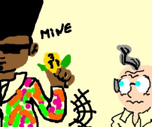 Fresh Prince steals corn from elder