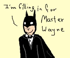 Alfred in The Dark Knight