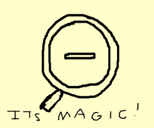 Magic Magnifying Glass Zooms Out